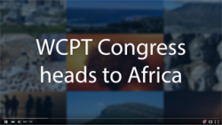 Image from WCPT Congress 2017 video